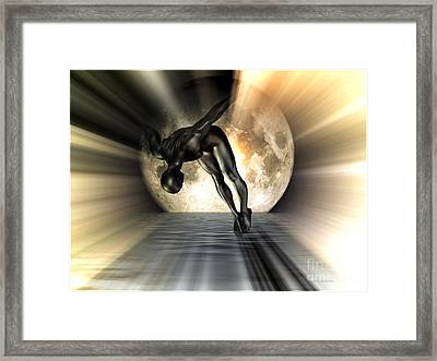 Night Swan Framed Print