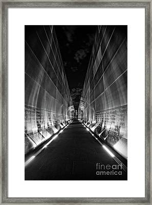 Night Time At Empty Sky Memorial Framed Print by Nicki McManus