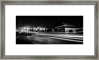 Night Time At Old Town Framed Print by Parker Cunningham