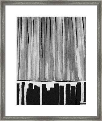 Night Time Downtown Framed Print by Marsha Heiken