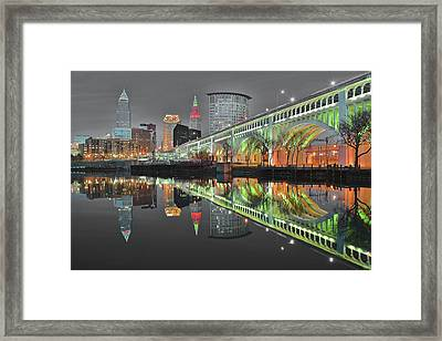 Framed Print featuring the photograph Night Time Glow by Frozen in Time Fine Art Photography