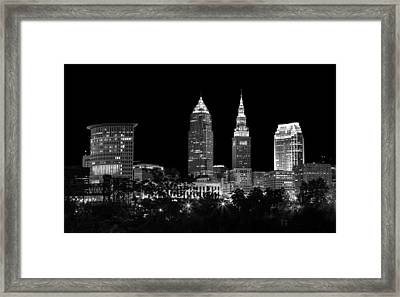 Night Time In Cleveland Ohio Framed Print by Dale Kincaid