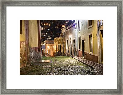 Night Time In Guanajuato Mexico Framed Print by Juli Scalzi