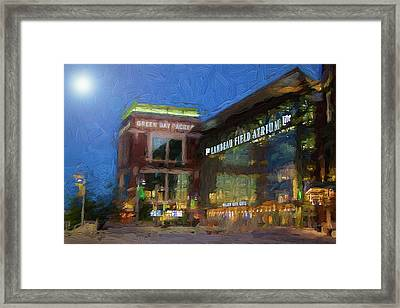 Night Time Lambeau Framed Print