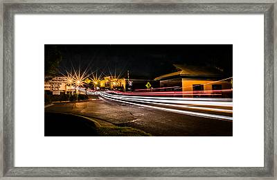 Night Time Rush Framed Print by Parker Cunningham