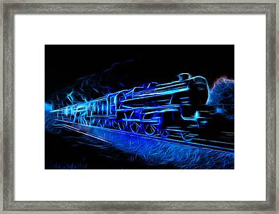 Framed Print featuring the photograph Night Train To Romance by Aaron Berg