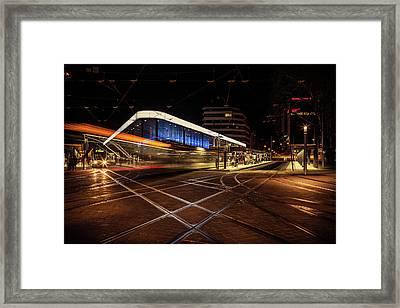 Night Tram Framed Print by Chris Fletcher