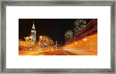 Night Trolley On Time Framed Print