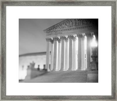 Night Us Supreme Court Washington Dc Framed Print by Panoramic Images