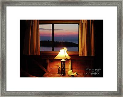 Night View Framed Print by Georgia Sheron