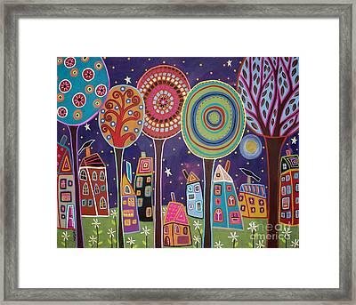 Night Village Framed Print