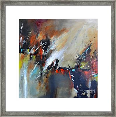 Framed Print featuring the painting Night Vision by Cher Devereaux