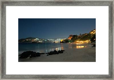 Framed Print featuring the photograph Night Walk On La Ropa by Jim Walls PhotoArtist