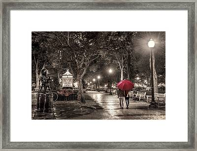 Night Walk Framed Print