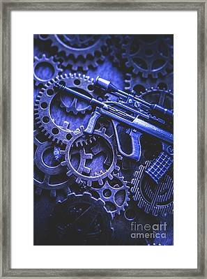 Night Watch Gears Framed Print