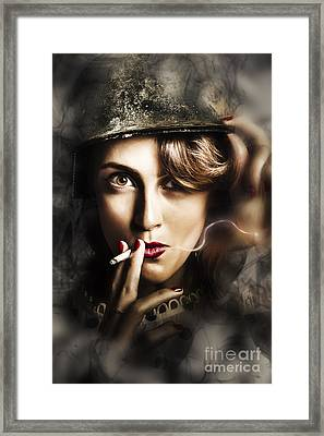 Night Watch Military Pin Up Framed Print by Jorgo Photography - Wall Art Gallery