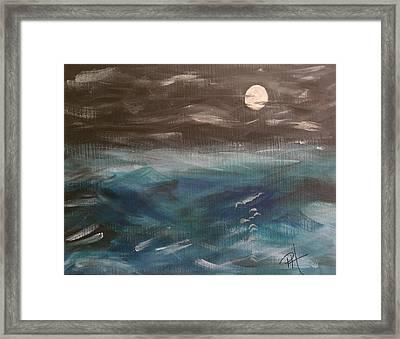 Night Waves Framed Print by Patti Spires Hamilton