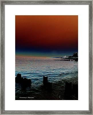 Night Winds And Waves Framed Print
