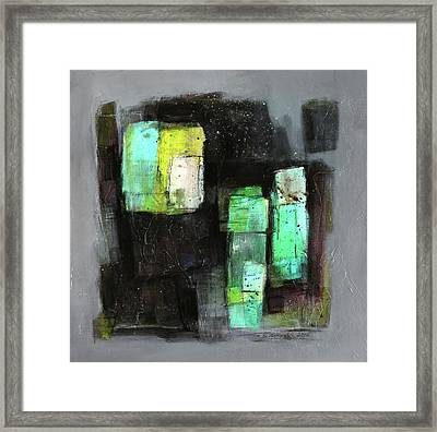 Texture Of Night Painting Framed Print by Behzad Sohrabi