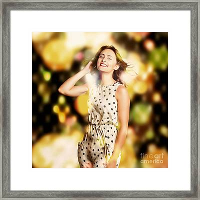 Nightclub Dance Floor Pinup Framed Print by Jorgo Photography - Wall Art Gallery