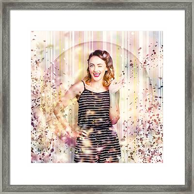 Nightclub Pin-up Celebration Framed Print by Jorgo Photography - Wall Art Gallery