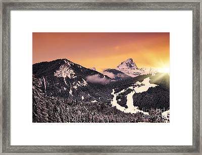 Nightfall Framed Print by Alessandro Giorgi Art Photography