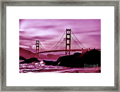 Nightfall At The Golden Gate Framed Print