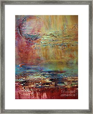 Framed Print featuring the painting Nightfall by Diana Bursztein