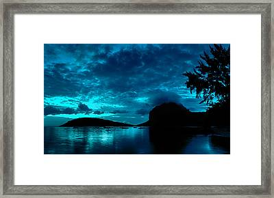 Framed Print featuring the photograph Nightfall In Mauritius by Julian Cook