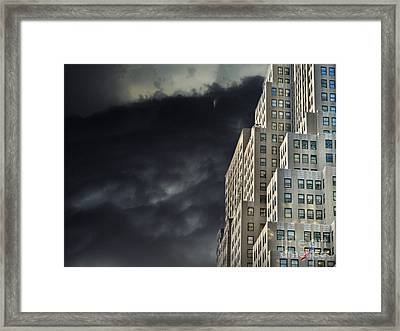Nightfall In The City Framed Print