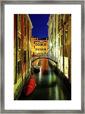 Nightfall In Venice Framed Print