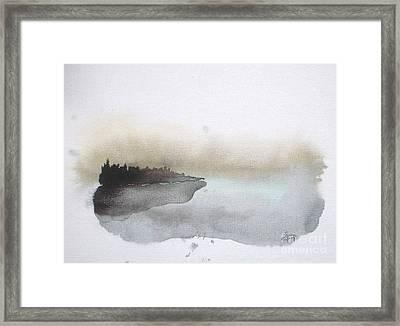 Nightfall On The Lake  Framed Print