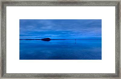 Framed Print featuring the photograph Nightfall Over Lake Ballard by Julian Cook