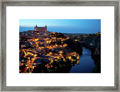 Nightfall Over Toledo Framed Print