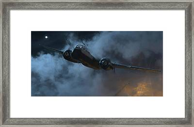 Nightfighter - Painterly Framed Print