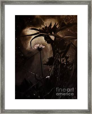 Framed Print featuring the painting Nightflower by Vanessa Palomino