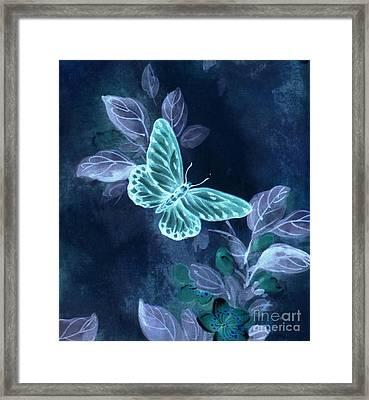 Nightglow Butterfly Framed Print