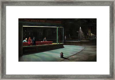 Nighthawks Framed Print by Antonio Ortiz