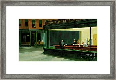 Nighthawks New Framed Print