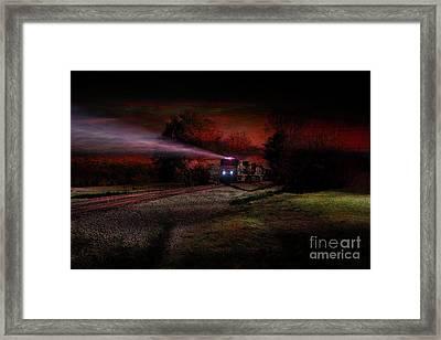 Nightime Steel Framed Print