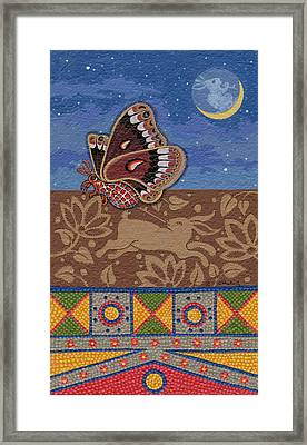 Framed Print featuring the painting Nightime - Tipiskaw, Cree by Chholing Taha