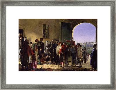 Nightingale Receiving The Wounded Framed Print