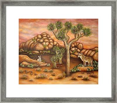Nightlife In Joshua Tree Framed Print by Kathy Shute