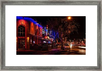 Nightlife On Santa Monica Boulevard Framed Print