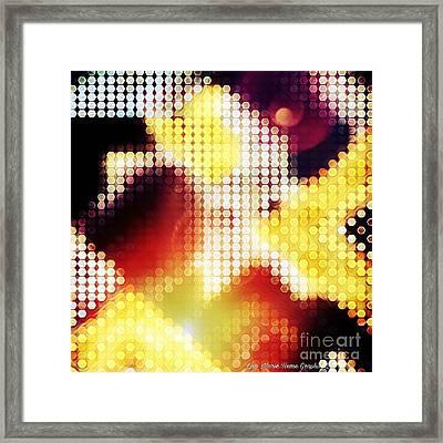 Nightly Cascade Framed Print