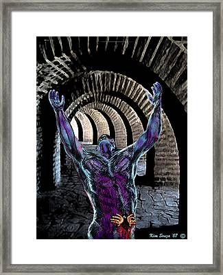 Nightmare Cave Framed Print by Kim Souza