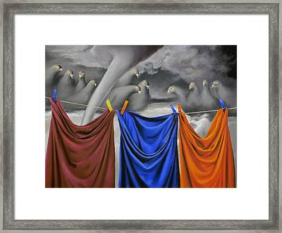 The Nightmare Of Shirts Framed Print by Ben Kotyuk