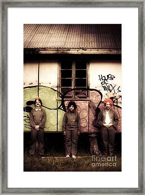 Nightmares Of Clown Horror Framed Print by Jorgo Photography - Wall Art Gallery