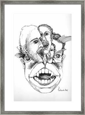 Nightmares Framed Print by Padamvir Singh