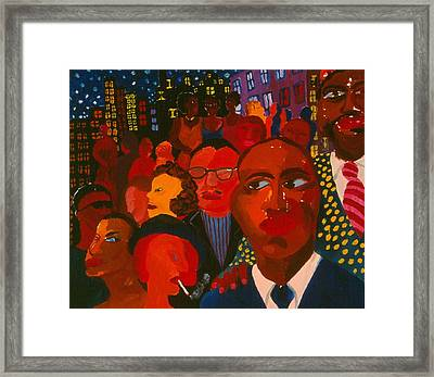 Nightpeople Framed Print by Nina Talbot